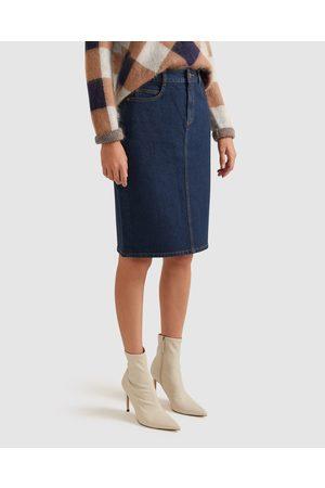 Sportscraft Brodie Denim Skirt - Denim skirts (Dark Wash) Brodie Denim Skirt