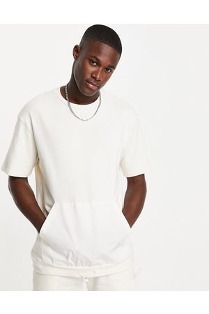 Topman Oversized utility t-shirt with pocket in -Neutral