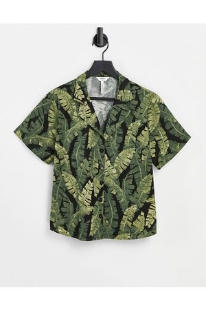 Object Co-ord shirt in -Green