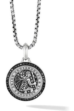 David Yurman St. Christopher Amulet With Pavé Black Diamonds