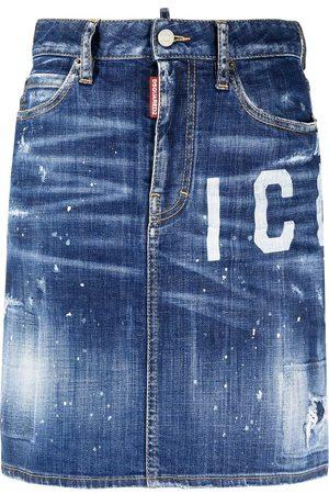 Dsquared2 Women Denim Skirts - Icon denim skirt
