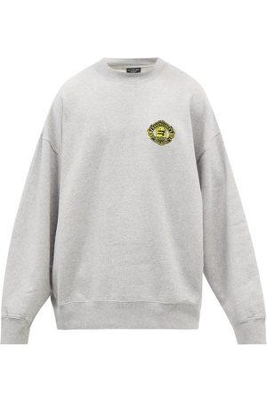 Balenciaga Men Sweatshirts - Logo-embroidered Oversized Jersey Sweatshirt - Mens