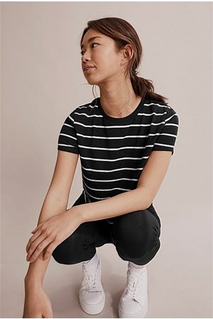 COUNTRY ROAD Teen Recycled Cotton Basic Stripe T-Shirt