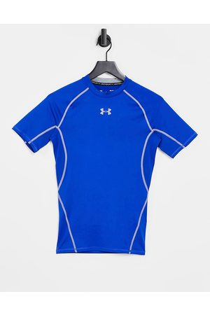 Under Armour Heat gear compression short-sleeved top in royal-Blue