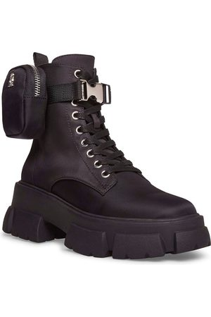 Steve Madden Tanker-P chunky lace up boots with removable pouch in