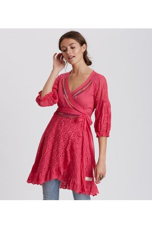 Odd Molly Two Step Flow Dress in Hot