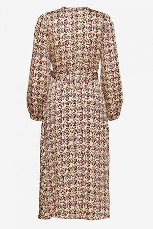 Second Female Decor Print Wrap Dress