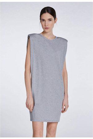 Set Fashion Set Jersey Dress with Shoulder Pads