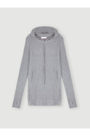 Cocoa Cashmere Essential Ribbed Hoodie Jumper