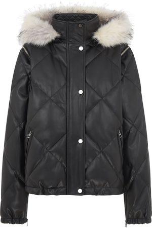 Urbancode Urban Code Quilted Short Jacket Detachable Sleeves and Fur Hood Khaki