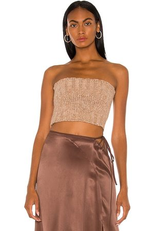 Cult Gaia Women Strapless Tops - Azlyn Knit Top in .