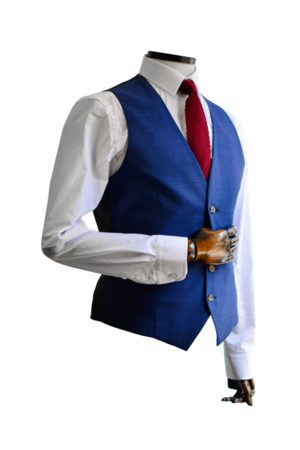 Torre & Black Micro-Houndstooth Suit Waistcoat