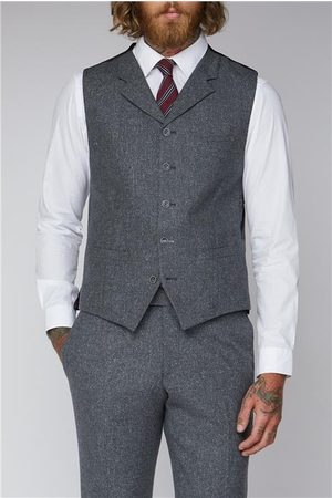 Gibson London Tweed Suit Waistcoat