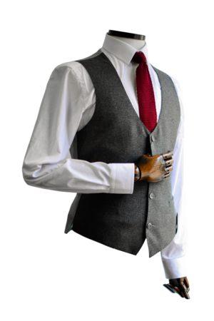 Remus Uomo Mario Charcoal Textured Suit Waistcoat