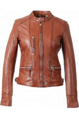 Oakwood Wild Each Mandarin Collar Leather Jacket