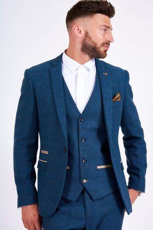 "Marc Darcy Dion Herringbone Tweed Blazer Mens 34"""