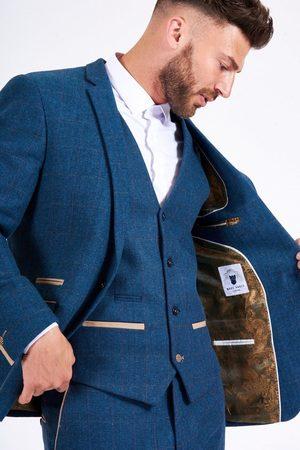 Marc Darcy Dion Herringbone Tweed Waistcoat Mens 34&qu