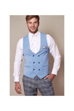 Marc Darcy Men Waistcoats - MARCY DARCY Double Breast Kelly Waistcoat Mens 4