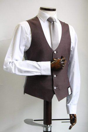 Remus Uomo Men Waistcoats - Lazio Burgundy & Grey Waistcoat