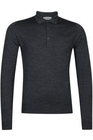 John Smedley Men Long Sleeve - Belper 100% Wool Long Sleeve Polo