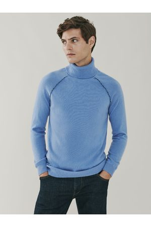 MrQuintessential Mayfair Detail Cashmere Roll Neck Sweater