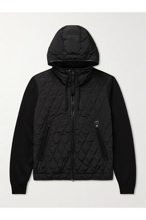 Tom Ford Cotton and Cashmere-Blend and Quilted Shell Hoodie