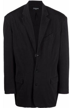 Balenciaga Blazers - Worn-out single-breasted blazer