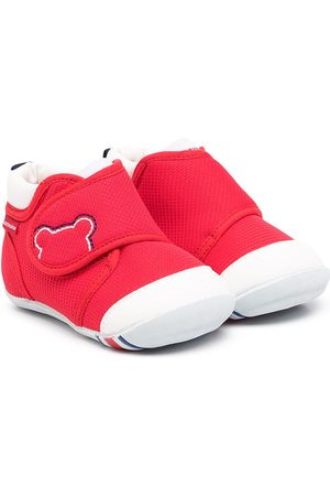 Miki House Touch-strap cotton sneakers