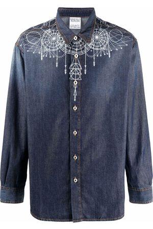 Marcelo Burlon County of Milan Astral Wings denim shirt