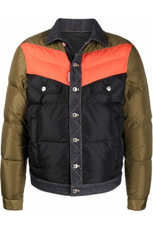 Dsquared2 Contrast buttoned padded jacket