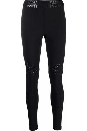 Moncler Women Leggings - Logo-waistband high-waisted leggings
