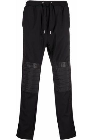 Les Hommes Men Joggers - Padded-panel detail trousers