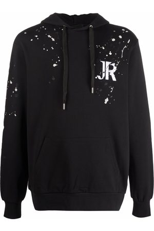 John Richmond Paint splatter-print pullover hoodie