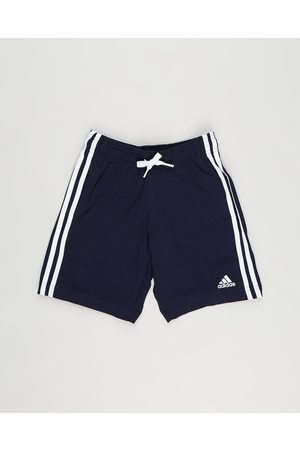 adidas Boys Shorts - Essentials 3 Stripes Cotton Shorts Kids Teens - Shorts (Legend Ink & ) Essentials 3-Stripes Cotton Shorts - Kids-Teens