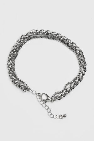 Boohoo Mens Chunky Layered Chain Bracelet