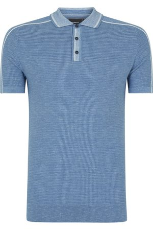 Remus Uomo Textured Knitted Polo Shirt