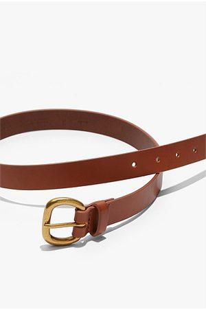 COUNTRY ROAD Women Belts - Skinny Solid Buckle Belt - Tan