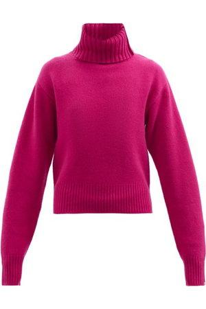 EXTREME CASHMERE No.188 Happy Roll-neck Stretch-cashmere Sweater - Womens - Fuchsia