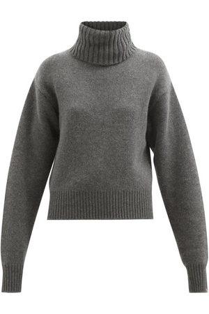 EXTREME CASHMERE No. 188 Happy Roll-neck Stretch-cashmere Sweater - Womens - Dark