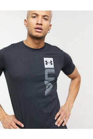 Under Armour Training Boxed Wordmark logo t-shirt in