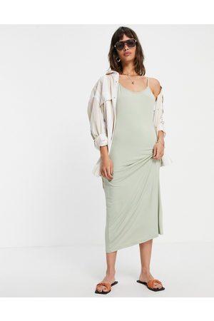 VILA Cami maxi dress in sage