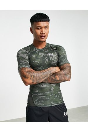 Under Armour Training HeatGear base layer t-shirt in camo-Green