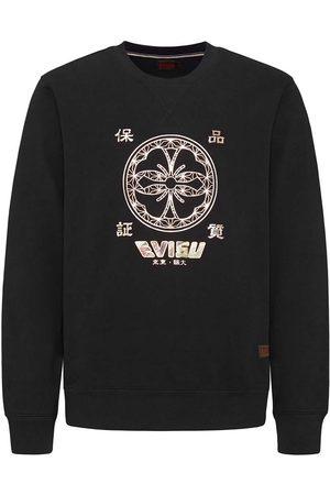 Evisu Foil Print Applique Sweatshirt