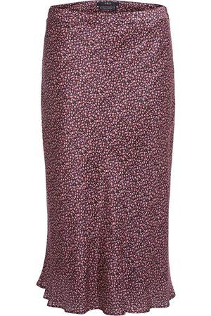 Set Fashion Women Midi Skirts - Set Floral Silk Midi Skirt
