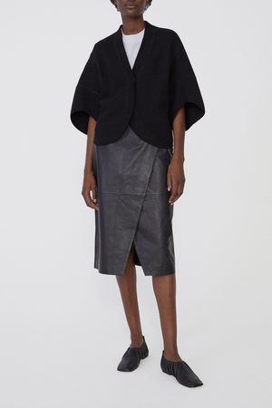 Dagmar Ruth Chrome Free Leather Skirt