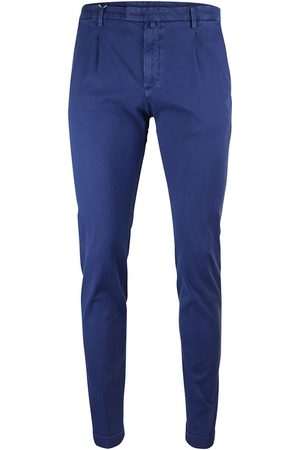 Briglia 1949 Slim Fit Cotton Trouser With Turn Up