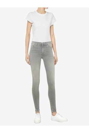 7 For All Mankind High Waist Skinny Slim Illusion Luxe Jeans Washed