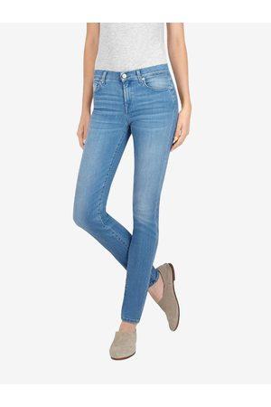 7 For All Mankind Light Wash Skinny Jeans Slim Illusion Rivera