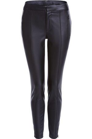 Set Fashion Women Leather Pants - Set Vegan Leather Trousers