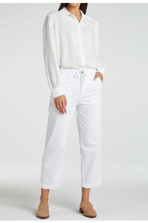 YAYA Cotton blend high waist cargo chino 7/8 length pure